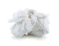 Crumpled tissue paper. Isolated on white background Stock Images