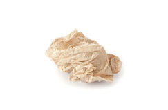 Crumpled tissue paper texture on a white background Stock Photos