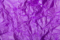 Crumpled tissue paper. Violet crumpled tissue paper for background Stock Photos