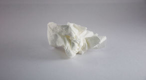 Crumpled tissue paper. A crumpled white tissue paper Royalty Free Stock Photo