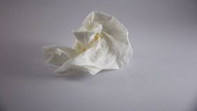 Crumpled tissue paper. A crumpled white tissue paper Royalty Free Stock Photos