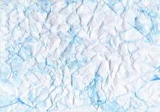 Crumpled tonificou o papel Cor azul, dobras, fissura, fratura ilustração do vetor