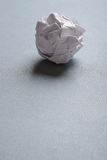 Crumpled-up ball of paper Stock Image