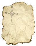 Crumpled up compass rose stock photography