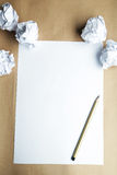 Crumpled up papers Stock Images
