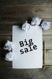Crumpled up papers Royalty Free Stock Images