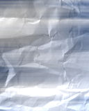 Crumpled up wrinkly white paper with texture Stock Photography