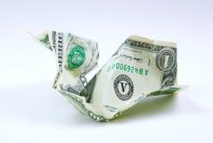 Crumpled US Dollar Bill Stock Image