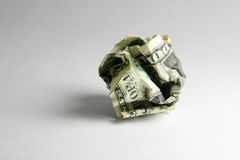Crumpled usa dollar ball Royalty Free Stock Images