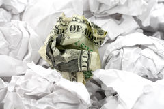 Crumpled usa dollar ball Royalty Free Stock Photography