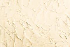 Crumpled vincou as texturas de papel do grunge dos cartazes fotografia de stock