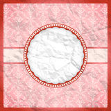 Crumpled vintage lace frame Stock Photos