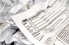 Crumpled W-9 income tax form Stock Photography