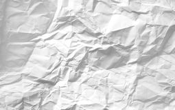 Crumpled paper. Crumpled white blank paper background Royalty Free Stock Photos