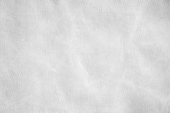 Crumpled white fabric texture background Stock Photos