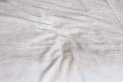 Crumpled white fabric texture Royalty Free Stock Images