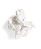 Crumpled white paper stock photography