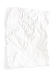 Crumpled white paper royalty free stock photos