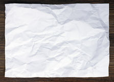 Crumpled white paper Stock Photos