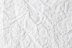 Crumpled White Paper. White paper crumpled as textured background Stock Photos