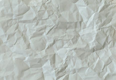 Crumpled White Paper from A4 Royalty Free Stock Photos