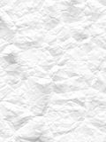 Crumpled white paper Royalty Free Stock Image