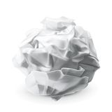 Crumpled white paper Stock Image