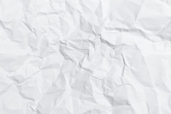 Crumpled white paper Royalty Free Stock Images