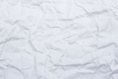 Crumpled white paper for background and texture Stock Image