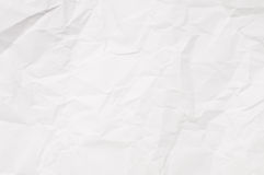 Crumpled white paper background. Crumpled white paper texture, paper background for design with copy space for text or image Royalty Free Stock Photos
