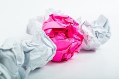 Crumpled white A4 paper  Royalty Free Stock Images