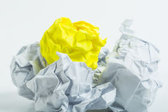 Crumpled white A4 paper isolated Stock Photos