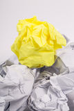 Crumpled white A4 paper isolated Stock Image