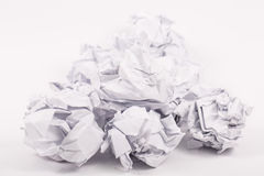 Crumpled white A4 paper isolated Royalty Free Stock Image