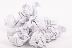 Crumpled white A4 paper isolated Royalty Free Stock Images