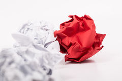 Crumpled white A4 paper isolated Stock Photo