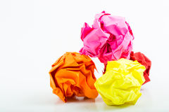 Crumpled white A4 paper isolated Stock Photography