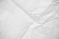 Crumpled white paper texture Royalty Free Stock Photo