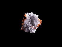 Crumpled white sheet of paper Stock Images