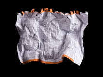 Crumpled white sheet of paper Stock Photography