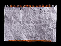 Crumpled white sheet of paper Stock Photo