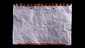 Crumpled white sheet of paper stock video footage