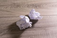 Crumpled paper. Crumpled white sheets of paper royalty free stock image