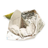 Crumpled wrapper Stock Photography