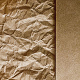 Crumpled wrapping paper Royalty Free Stock Photo