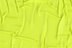 Crumpled yellow fabric texture Stock Images