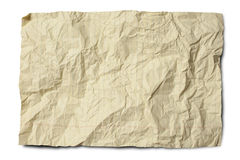Crumpled Yellow Legal Paper Stock Image