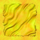 Crumpled yellow material Royalty Free Stock Photography