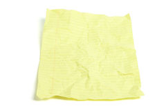 Crumpled Yellow Paper Royalty Free Stock Photo