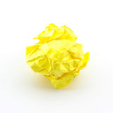 Crumpled yellow papers. Royalty Free Stock Photography